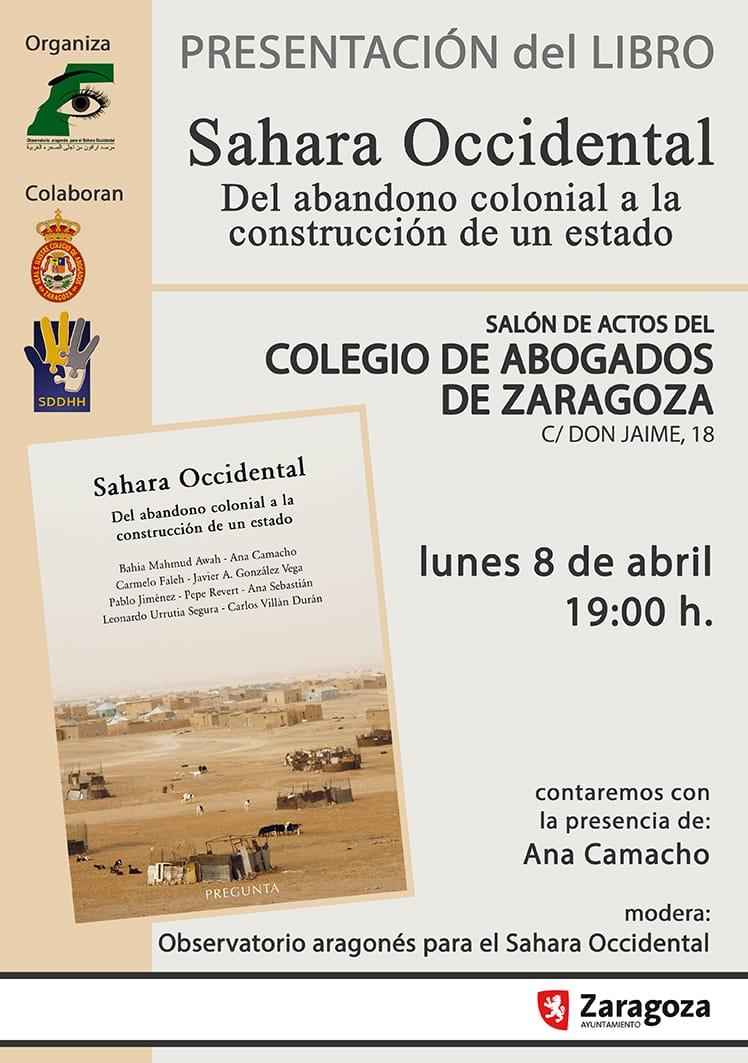 presentación del libro Sahara Occidental: Del abandono colonial a la construcción de un estado.